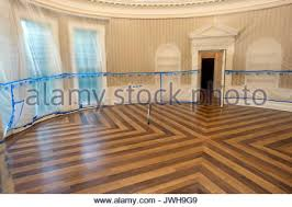 oval office floor. plastic covers the walls of oval office floor u
