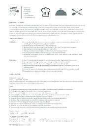 Cook Resume Objective Chef Resume Example Related Post Line Cook Resume Objective 21