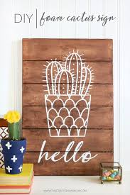 diy wall letters and word signs diy foam cactus sign initials wall art for