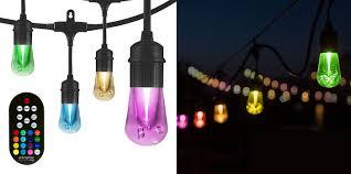enbrighten led warm white color changing outdoor string lights