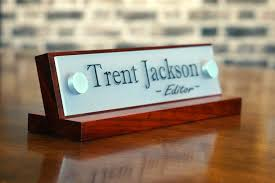 contemporary desk name plates with regard to office accessories decor plate for her birthday