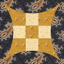 Q: What is this quilt block's name?... A: Glorified Nine Patch & Uneven nine patch quilt block Adamdwight.com