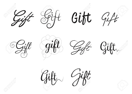 The Word Gift Vector Icon Set Of Word Gift On White Background Royalty Free