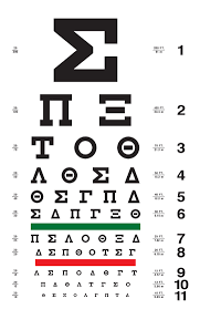Eye Chart Letters Custom Eye Charts Greek Eye Charts