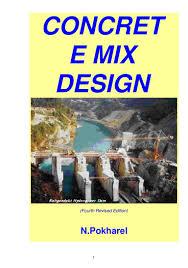 Astm Standards For Concrete Mix Design Concrete Mix Design Manual