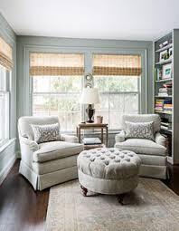 sunroom furniture designs. Sally Steponkus Interiors Sunroom Grass Shades Custom Upholstery Oushak Rug Farrow \u0026 Ball Light Blue # Furniture Designs