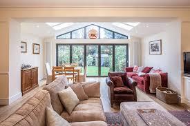 living room extension. pitched roof singlestorey extension in teddington traditionallivingroom living room i