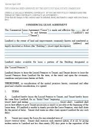 Property Lease Agreement Template Assoc Of Version Commercial Lease ...