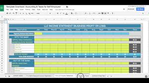 Taxes Spreadsheet The Business Spreadsheet Template For Self Employed Accounting
