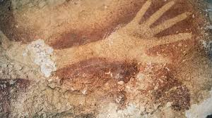 40 000 year old cave paintings include oldest hand stencil known to science the independent