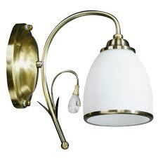 <b>Бра Brizzi</b> Tarragona <b>MA 02640W</b>/<b>001</b> Bronze, E27 цвет белый в ...