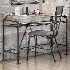 industrial antique furniture. Furniture Of America Revo Antique Black Industrial Desk/ Console Table