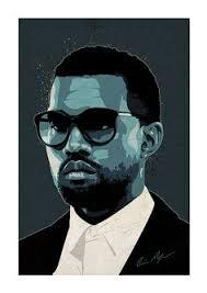 kanye west pop art print rapper singer by ciaranmonaghan
