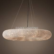 halo lighting. Modern Cristal Chandeliers Lighting Round Crystal Chandelier Halo Hanging Light For Home Hotel Living And Dining L