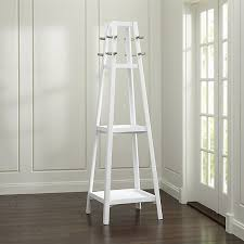 White Standing Coat Rack New Truro White Wood Standing Coat Rack Crate And Barrel Entrance