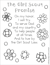 Brownie Coloring Pages Girl Scout Printable Pledge For Law Colorin