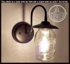 mason jar exterior porch wall sconce light ball the lamp goods with new canning fixture sconces home custom shades outside wire covers vertical lights