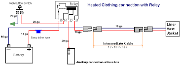 home made heated gear update honda cx500 gl500 forum when the relay is on it lets battery voltage go directly to the resistance circuits here is a diagram of the wiring