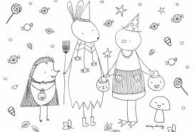 Free printable coloring pages halloween coloring pages. Cute Halloween Coloring Pages To Print And Color Skip To My Lou