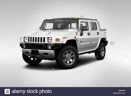 2009 Hummer H2 in Silver - Front angle view Stock Photo, Royalty ...