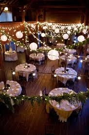 barn wedding lighting. Rustic DIY Barn Wedding Greenery Garland, Lights And Lanterns Lighting