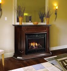 corner natural gas fireplace inch vent free gas fireplace remote ready with wall surround and hearth