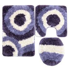 serenity 3 piece gy bathroom rug set purple hover to zoom to enlarge