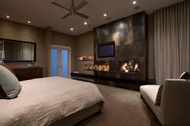 Wall Mounted Electric Fireplace Bedroom  Contemporary With Ceiling Fan Ceiling Lighting Fireplace French Doors