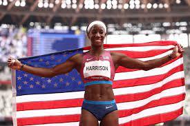 Keni Harrison wins silver in the women ...