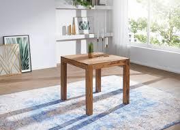 Wohnling Design Esstisch Mumbai Quadratisch 80x80cm Massivholz Küchentisch Tisch Neu