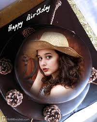 free happy birthday cake with photo
