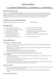 Cna Resume Skills  resume examples example of cna resumes and     Alib