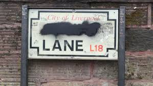 Road Signs on Penny Lane in Liverpool Have Been Defaced   Complex