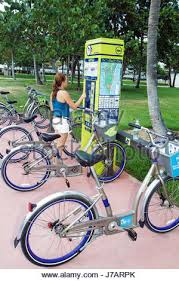 Bike Rental Vending Machines Magnificent Miami Beach Florida DecoBike Bicycle Rental Vending Machine Stock