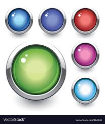 Glossy Button Royalty Free Vector Image Vectorstock