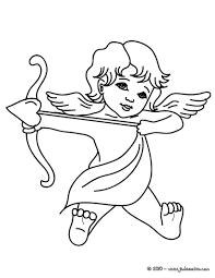 Coloriages Coloriage Gratuit Cupidon Avec Son Arc Fr Hellokids Com