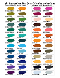 color chart art impressions most loved color conversion chart art