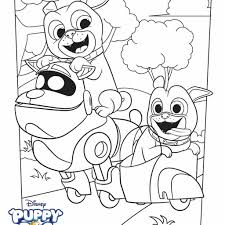 Puppy Dog Coloring Pages With Puppy Dog Pals Coloring Page Activity