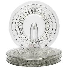 heisey victorian elegant glass salad plates set of 4 vintage elegant glass