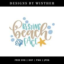 This exclusively designed svg cut file is for yearly, lifetime and extended license members only! Free Resting Beach Face Svg Dxf Png Jpeg Designs By Winther