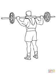 Small Picture Barbell Good Morning Exercise coloring page Free Printable