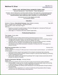 Recent College Graduate Resume Template Word Beautiful