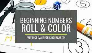Crayon color matching from a to z teacher stuff. Free Beginning Numbers Roll And Color Dice Game Kindergartenworks