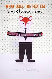 What Does The Fox Say Christmas Card Free Printable Kiki Company