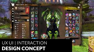Game Interaction Design Guild Wars 2 Mmo Game Ux Ui Redesign Interaction Design