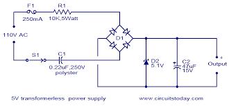 vac to vdc power supply circuit diagram vac transformerless power supply 24vdc 120v ac and 230v ac on 230vac to 24vdc power supply circuit