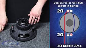 how to wire a dual 2 ohm subwoofer to a 4 ohm final impedance car how to wire a dual 2 ohm subwoofer to a 4 ohm final impedance car audio 101