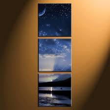 Small Picture 3 Piece Blue Ocean Art Canvas Art Prints