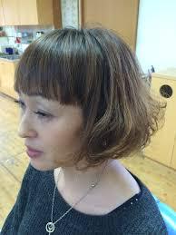 グラデーションカラーと毛先カールのデジタルパーマ 2016流行りの髪型は