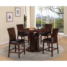 contempo counter dining  table and  espresso seat dining chairs